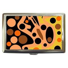 Orange abstract decor Cigarette Money Cases