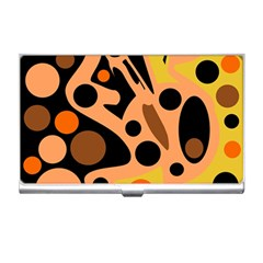 Orange abstract decor Business Card Holders