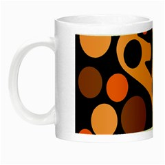 Orange abstract decor Night Luminous Mugs