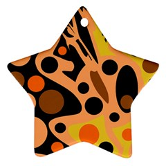 Orange abstract decor Star Ornament (Two Sides)