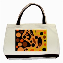 Orange abstract decor Basic Tote Bag (Two Sides)