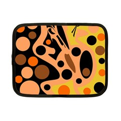 Orange abstract decor Netbook Case (Small)