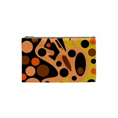 Orange abstract decor Cosmetic Bag (Small)