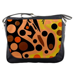 Orange abstract decor Messenger Bags