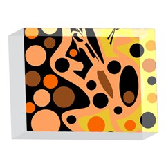 Orange abstract decor 5 x 7  Acrylic Photo Blocks