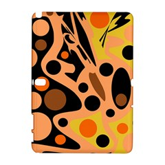 Orange abstract decor Samsung Galaxy Note 10.1 (P600) Hardshell Case