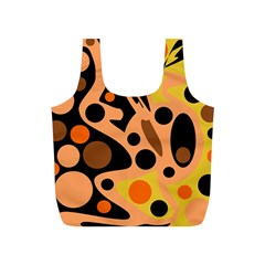 Orange abstract decor Full Print Recycle Bags (S)