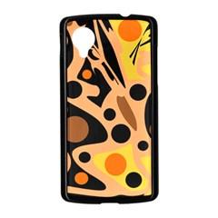 Orange abstract decor Nexus 5 Case (Black)
