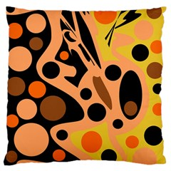Orange abstract decor Standard Flano Cushion Case (One Side)