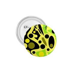 Green abstract art 1.75  Buttons