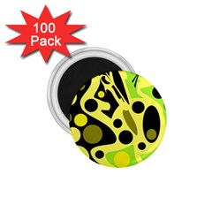 Green abstract art 1.75  Magnets (100 pack)