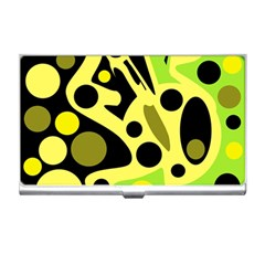 Green abstract art Business Card Holders