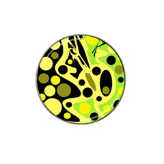 Green abstract art Hat Clip Ball Marker