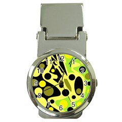 Green Abstract Art Money Clip Watches