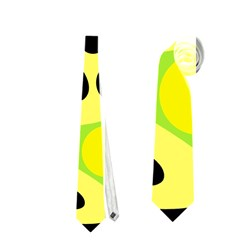 Green abstract art Neckties (Two Side)