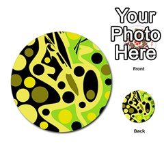 Green abstract art Multi-purpose Cards (Round)