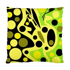 Green Abstract Art Standard Cushion Case (one Side)