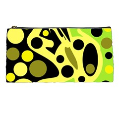 Green abstract art Pencil Cases