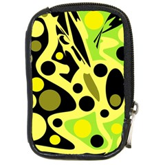 Green abstract art Compact Camera Cases
