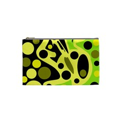 Green abstract art Cosmetic Bag (Small)