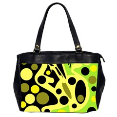 Green abstract art Office Handbags (2 Sides)