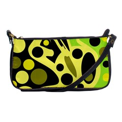 Green abstract art Shoulder Clutch Bags