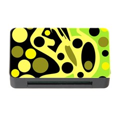 Green abstract art Memory Card Reader with CF