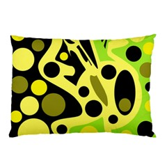 Green Abstract Art Pillow Case (two Sides)