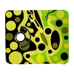 Green abstract art Samsung Galaxy S  III Flip 360 Case