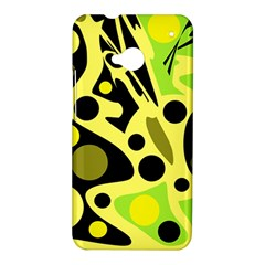 Green abstract art HTC One M7 Hardshell Case