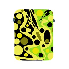 Green abstract art Apple iPad 2/3/4 Protective Soft Cases