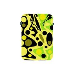 Green abstract art Apple iPad Mini Protective Soft Cases