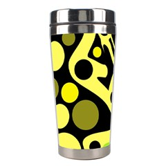 Green abstract art Stainless Steel Travel Tumblers