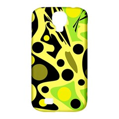 Green abstract art Samsung Galaxy S4 Classic Hardshell Case (PC+Silicone)