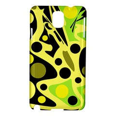 Green abstract art Samsung Galaxy Note 3 N9005 Hardshell Case