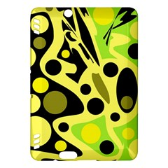 Green abstract art Kindle Fire HDX Hardshell Case