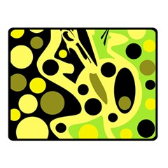 Green abstract art Double Sided Fleece Blanket (Small)