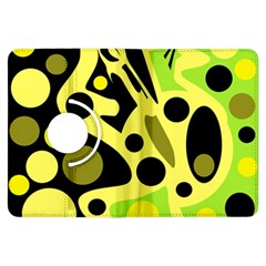 Green abstract art Kindle Fire HDX Flip 360 Case
