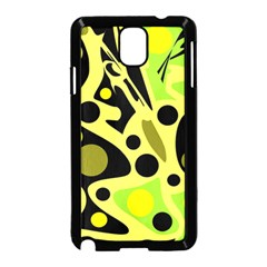 Green abstract art Samsung Galaxy Note 3 Neo Hardshell Case (Black)