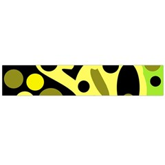 Green abstract art Flano Scarf (Large)