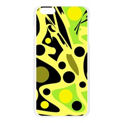 Green abstract art Apple Seamless iPhone 6 Plus/6S Plus Case (Transparent)