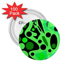 Green abstract decor 2.25  Buttons (100 pack)