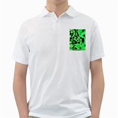 Green abstract decor Golf Shirts