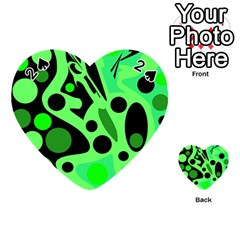 Green abstract decor Playing Cards 54 (Heart)