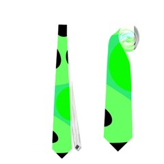 Green abstract decor Neckties (One Side)