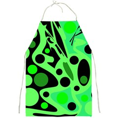 Green abstract decor Full Print Aprons