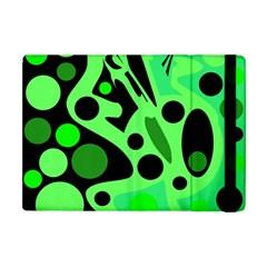 Green abstract decor Apple iPad Mini Flip Case