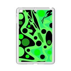 Green abstract decor iPad Mini 2 Enamel Coated Cases