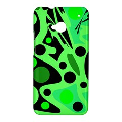 Green abstract decor HTC One M7 Hardshell Case