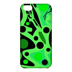 Green abstract decor Apple iPhone 5C Hardshell Case